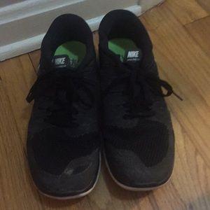 Nike free 5.0 black and white worn 8.5